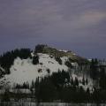 Fin de journée sur le château de Joux 1